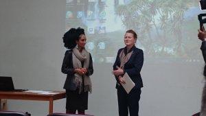 Ekiudoko Miriam és Tove Skarstein az eseményen